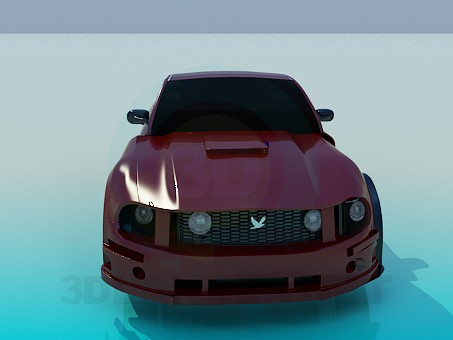 3d modeling Ford Mustang model free download