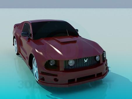 modelo 3D Ford Mustang - escuchar