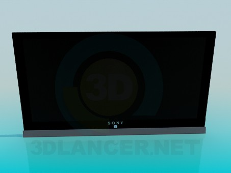 3d modeling LCD Sony model free download