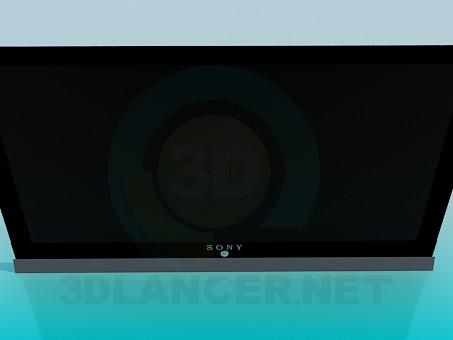modelo 3D LCD Sony - escuchar