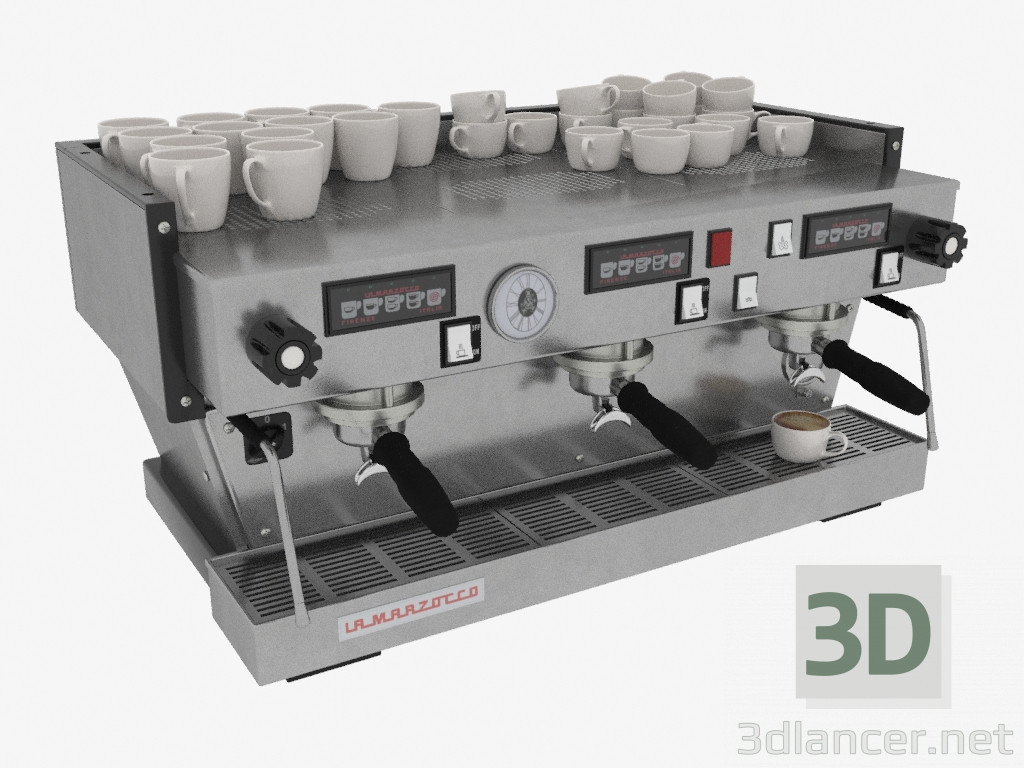 3d model professional coffee maker for 3 groups linea for Home design 3d professional italiano gratis