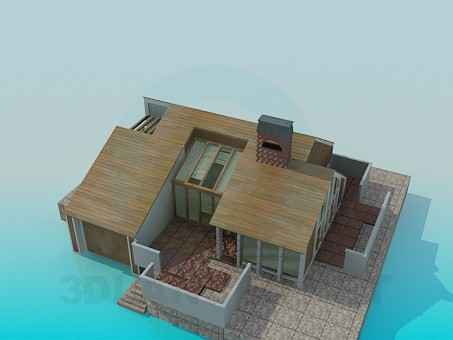 3d model Cottage - preview