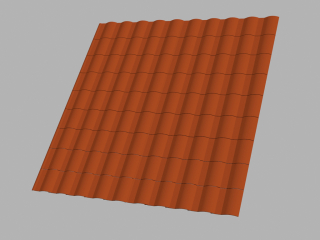 Clay / pvc tiles - roof tile