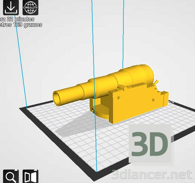 3d model Armstrong 300 pound cannon - preview
