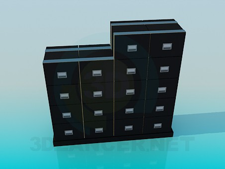 modelo 3D Cajones para documentos - escuchar