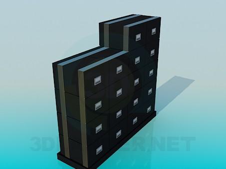 3d модель Выдвижные ящики для документов – превью