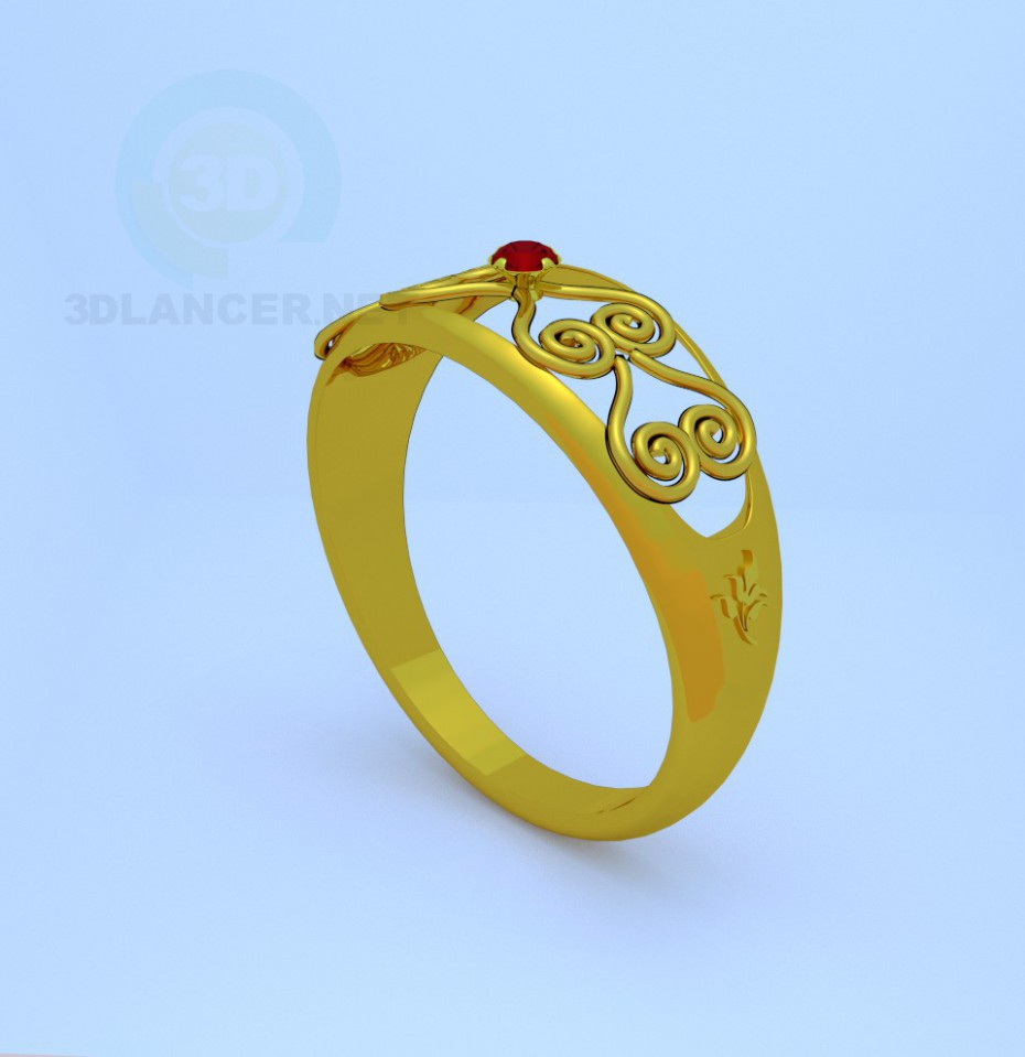 3d model The ring pattern - preview