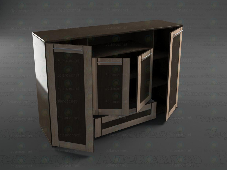 modelo 3D Cajonera - escuchar