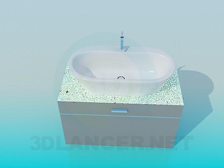 descarga gratuita de 3D modelado modelo lavabo