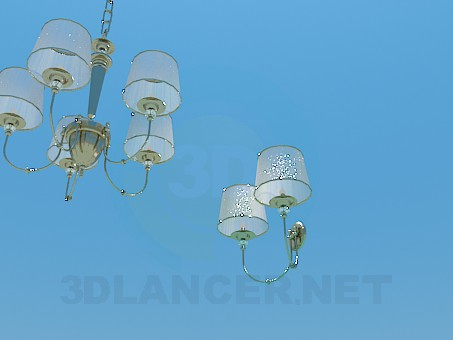 3d model Chandelier and sconces - preview