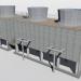 3d Fan Cooling Tower model buy - render