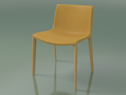 Chair 2088 (4 wooden legs, with front trim, natural oak)