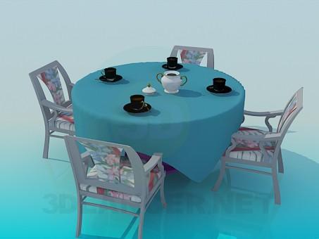 modelo 3D Mesa de té - escuchar