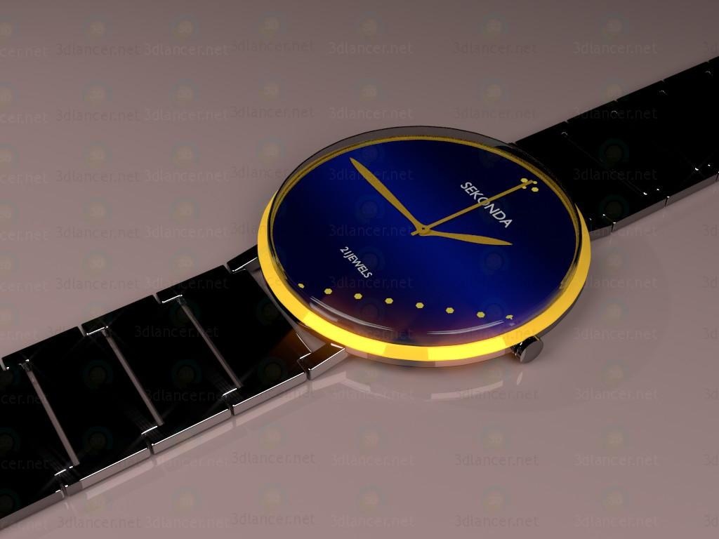 modelo 3D Reloj de mano - escuchar