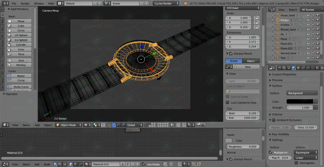 3d model Clock hand - preview