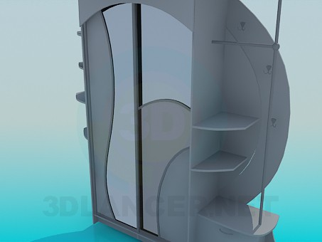 3d model Cupboard in the hallway - preview