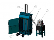 Hydraulic press for paper and cardboard