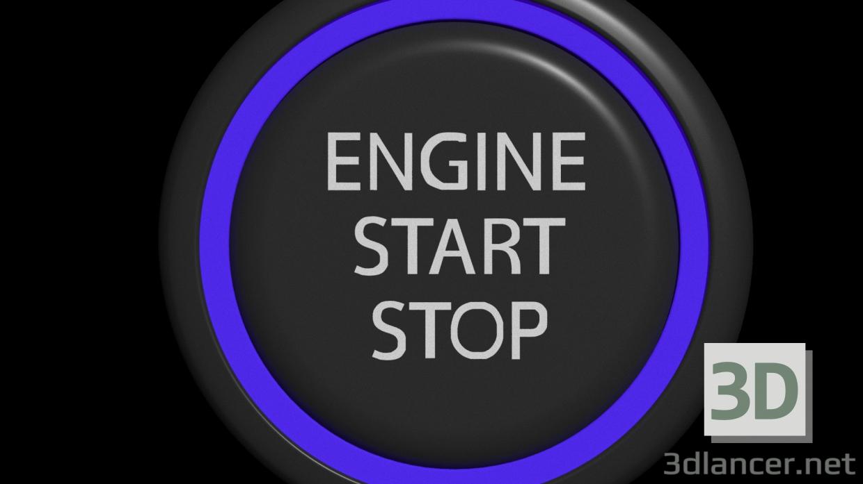 3 डी बटन इंजन मॉडल खरीद - रेंडर