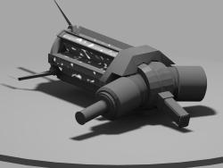 Schwerkraftpistole