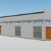 3d Single-span industrial building model buy - render