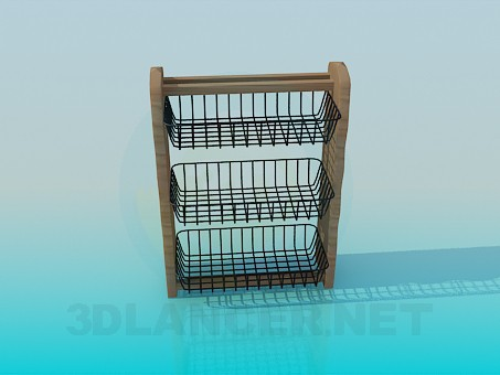 3d modeling Kitchen hanging shelf model free download