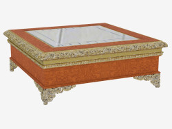 Square coffee table in classical style 728
