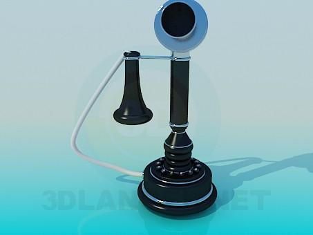 3d modeling Phone antique model free download