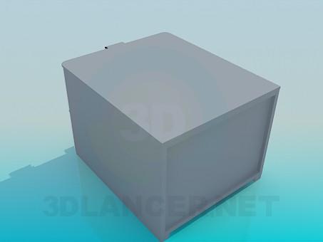 modelo 3D Planta cuadrada con 2 cajones - escuchar