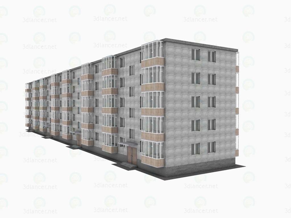 3d модель 5ти поверховий житловий будинок серії 1-464 – превью