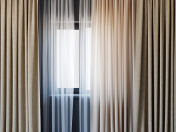 Curtains with tulle set 01