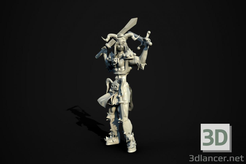 3d Knight model buy - render