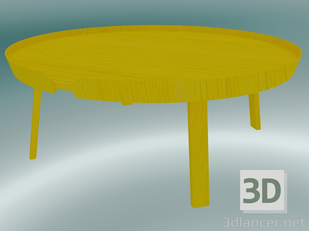 Picture of: 3d Model Coffee Table Around Extra Large Yellow 3dlancer Net