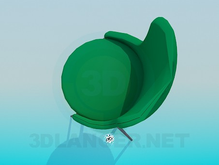3d model Stool with a backrest - preview