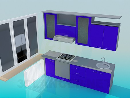 3d model Corner in the kitchen - preview