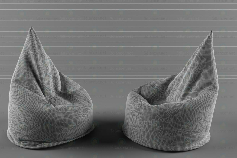 3d model Poof bag - preview