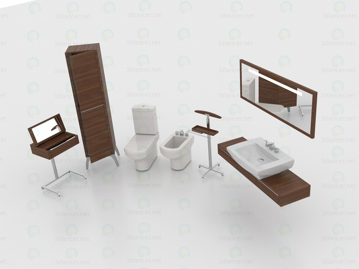 3d Villeroy and Boch BELLEVUE & collection model buy - render
