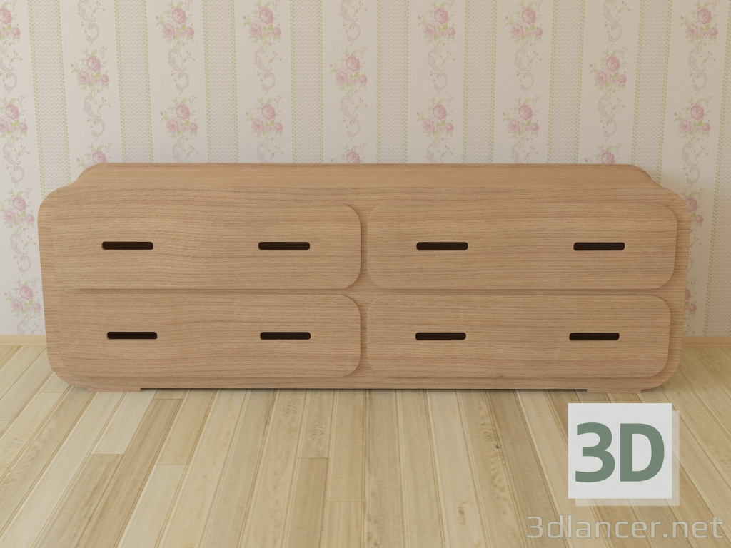 3d Chest of Drawer 2B Chest of Drawer 2B from Unto This Last model buy - render