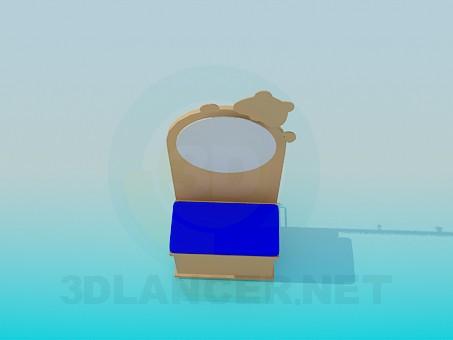 descarga gratuita de 3D modelado modelo Vanidad para habitación de los niños