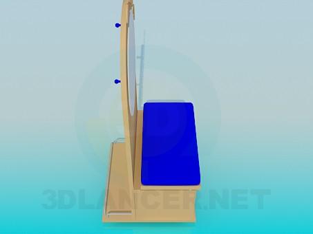 modelo 3D Vanidad para habitación de los niños - escuchar