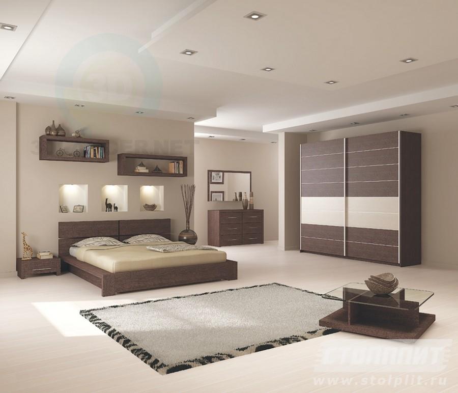 3d моделирование Спальня Дарья модель скачать бесплатно