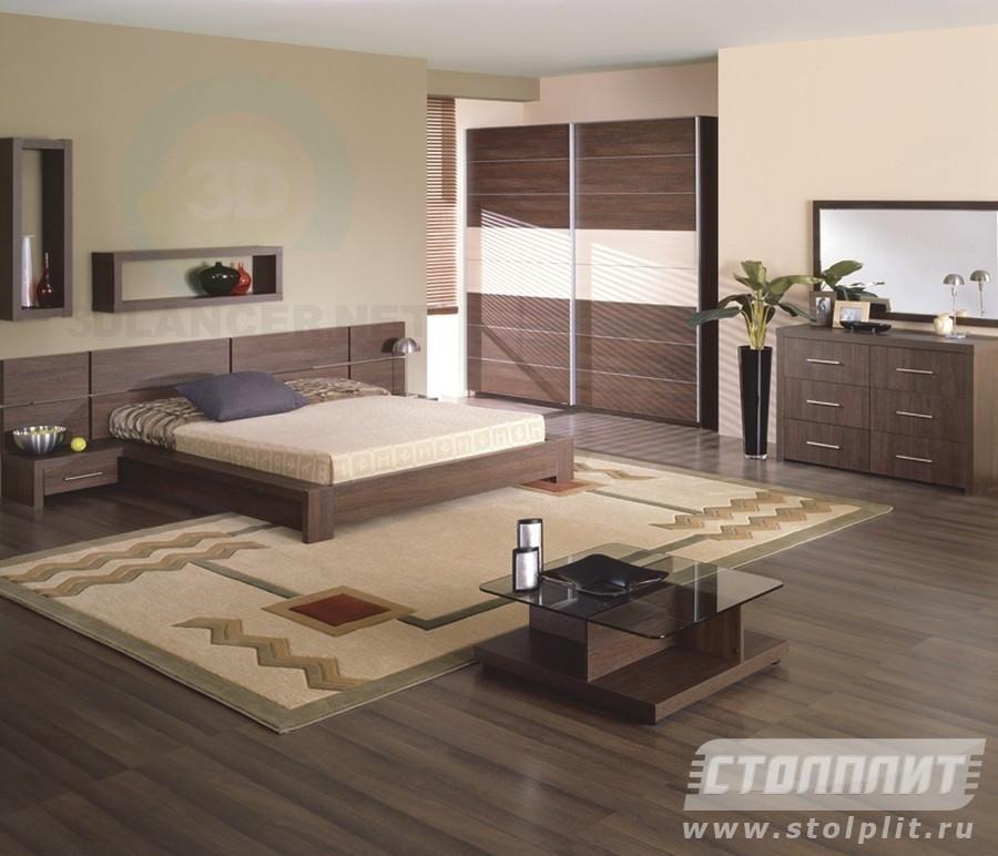 3d модель Спальня Дарья – превью