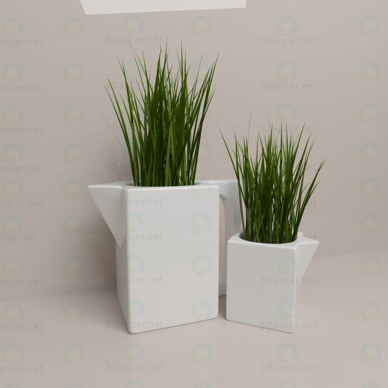 3d model Decorative grass - preview