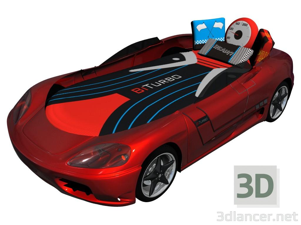 3d моделирование Кровать-машина модель скачать бесплатно