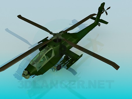 3d model Apache helicopter - preview