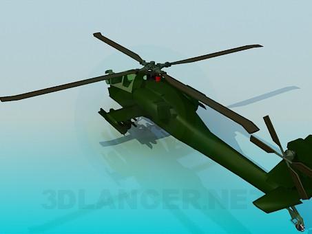 3d модель Apache вертолет – превью