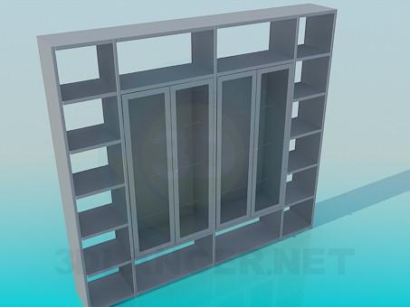 modelo 3D Aparador con estantes - escuchar