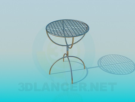 3d modeling A small table model free download