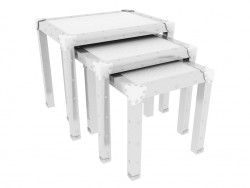 Table fold Croco Noble White (3 PCs per set)