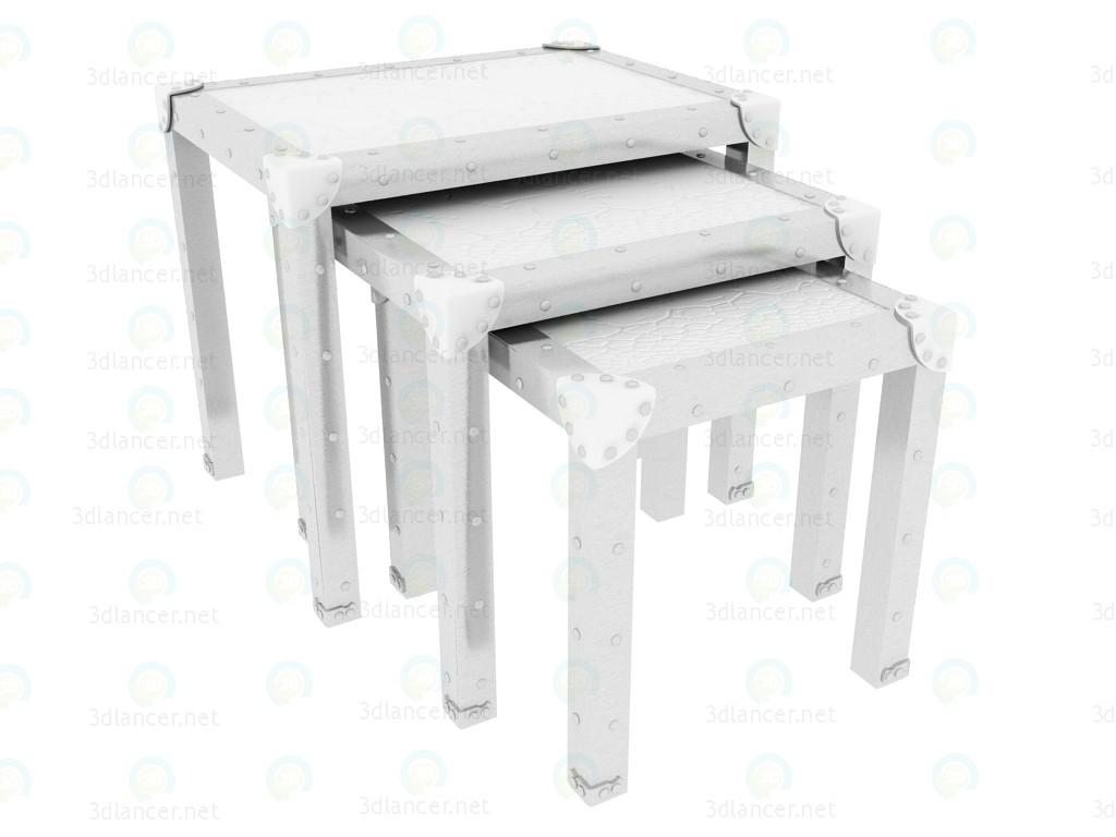 Tablo katlama timsahın asil beyaz (maks. 3PC set başına) model ücretsiz 3D modelleme indir