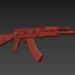 3d old AK-47 model buy - render